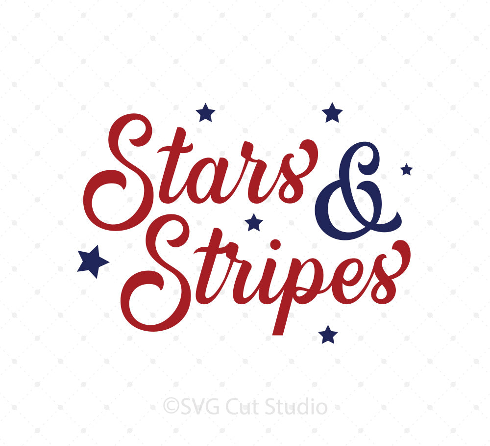 4th of July Stars and Stripes SVG Cut Files