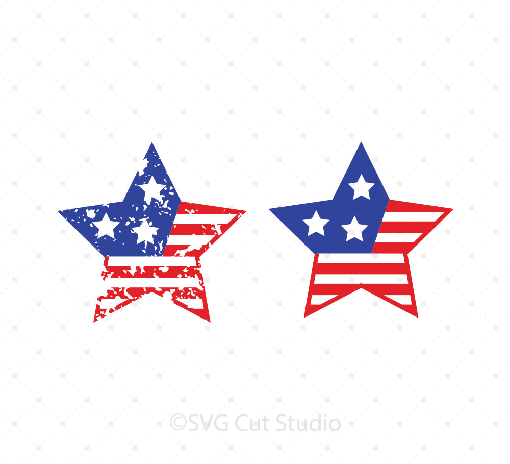 4th of July Star SVG Cut Files