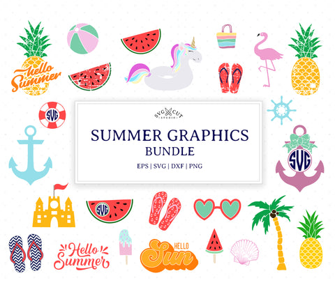 Summer Bundle SVG Cut Files