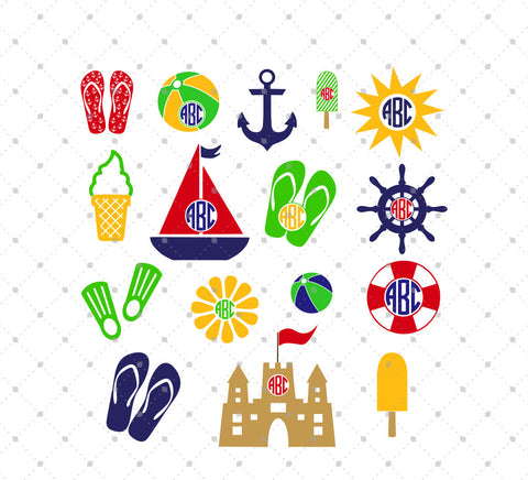 Summer SVG Cut Files - SVG Cut Studio