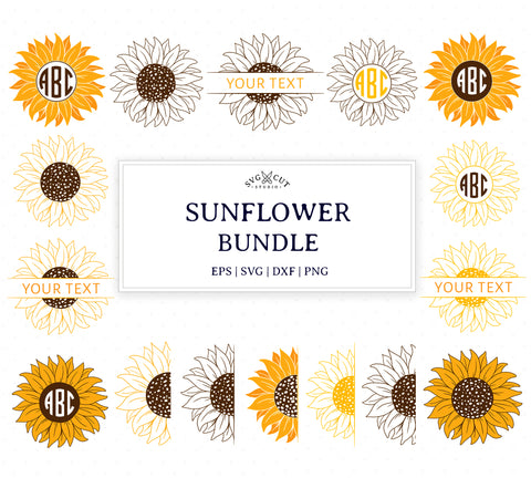 Sunflower SVG Cut Files