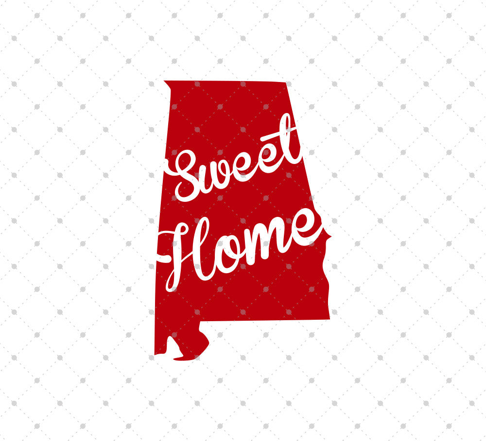 Sweet Home Alabama SVG Cut Files - SVG Cut Studio
