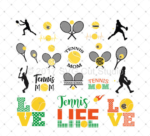SVG files for Cricut Tennis SVG Cut Files Silhouette Studio3 files PNG clipart free svg by SVG Cut Studio