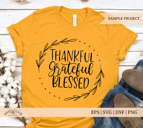 Thankful Grateful Blessed SVG files