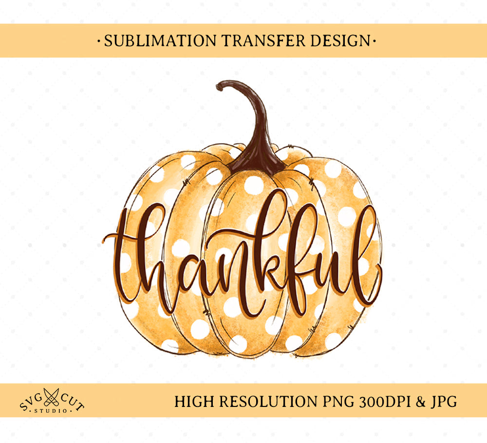 Pumpkin Sublimation Printable Design
