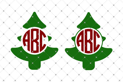Christmas Tree Monogram SVG Cut Files