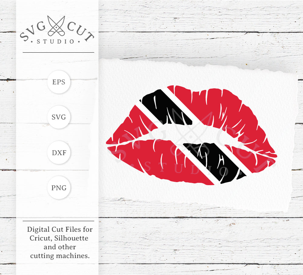 Trinidad-Tobago Flag Lips SVG Files