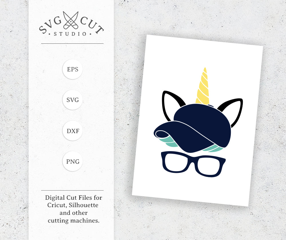 Unicorn Boy Face Svg Cut Files For Cricut And Silhouette
