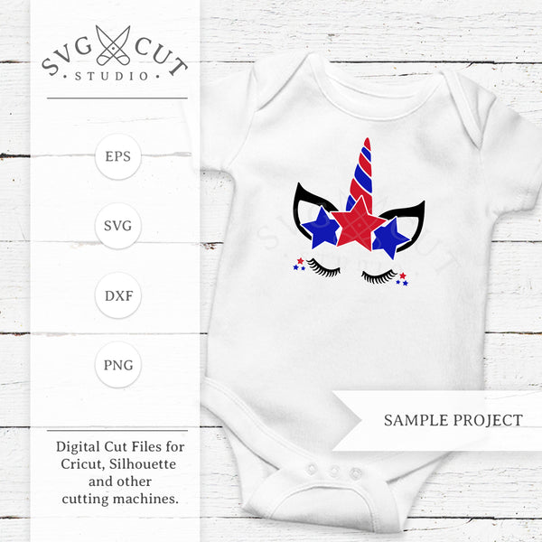 4th of July Unicorn SVG Files for Cricut and Silhouette