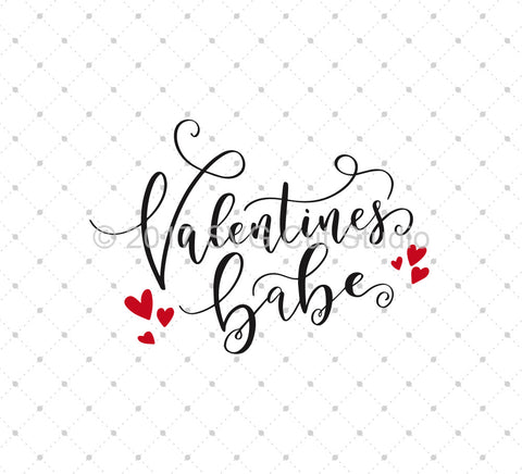 SVG files for Cricut Valentines Babe SVG Cut Files Silhouette Studio3 files PNG clipart free svg by SVG Cut Studio