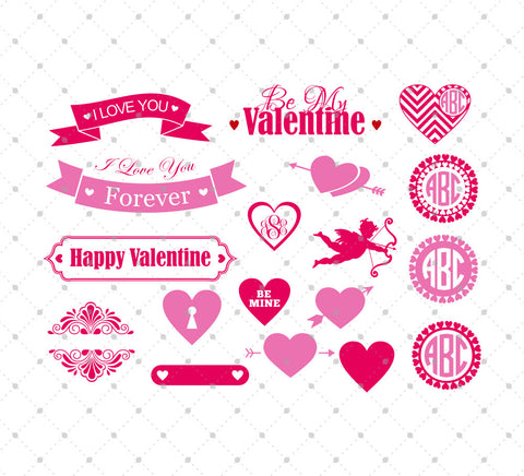 Valentine's Day SVG Cut Files #1