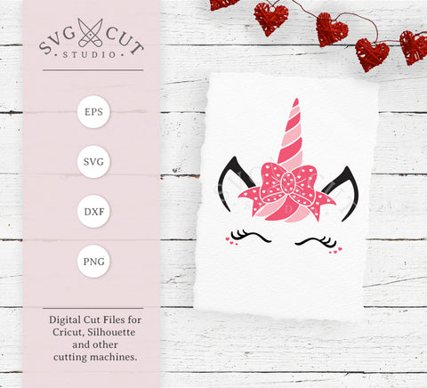 Valentine's Day Unicorn svg files