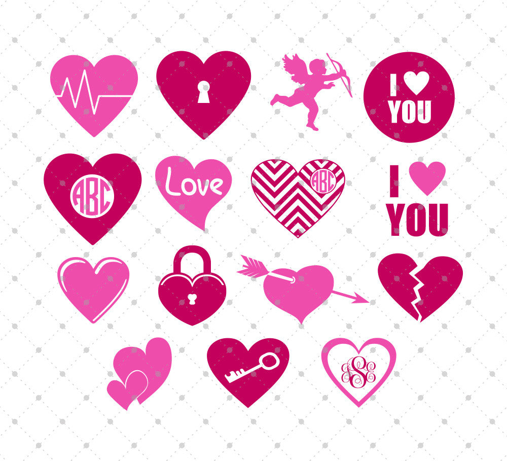 Valentine's Day SVG Cut Files #2
