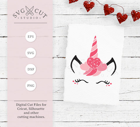 Valentines Day Unicorn svg png dxf files, valentines unicorn svg