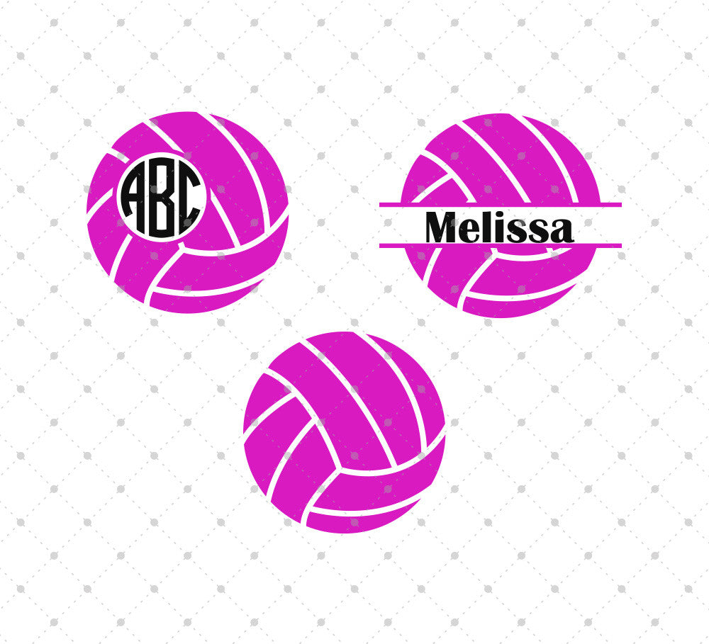 Volleyball Ball SVG Cut Files - SVG DXF PNG cut cutting files for Cricut and Silhouette by SVG Cut Studio