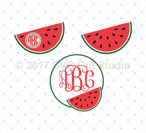 Watermelon SVG Cut Files - SVG DXF PNG cut cutting files for Cricut and Silhouette by SVG Cut Studio