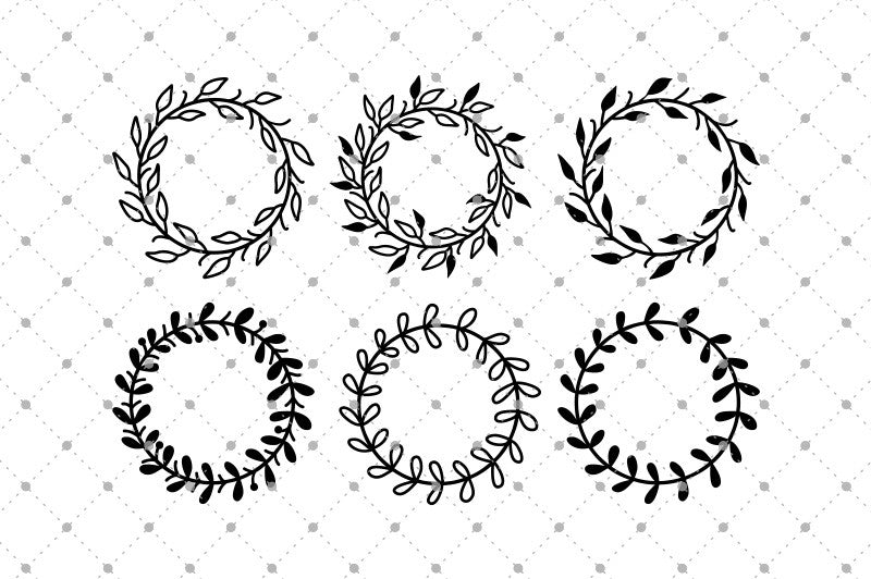 Hand Drawn Wreath SVG Cut files - SVG Cut Studio