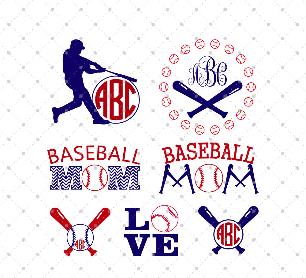Baseball SVG Cut Files Set - SVG Cut Studio