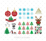 Christmas SVG Bundle for Cricut Silhouette printable png dxf clipart and free svg files by SVG Cut Studio
