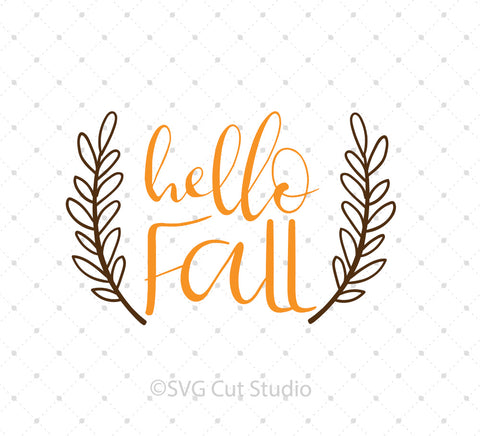 Hello Fall SVG Cut Files at SVG Cut Studio for Cricut Explore Silhouette Cameo free svg files