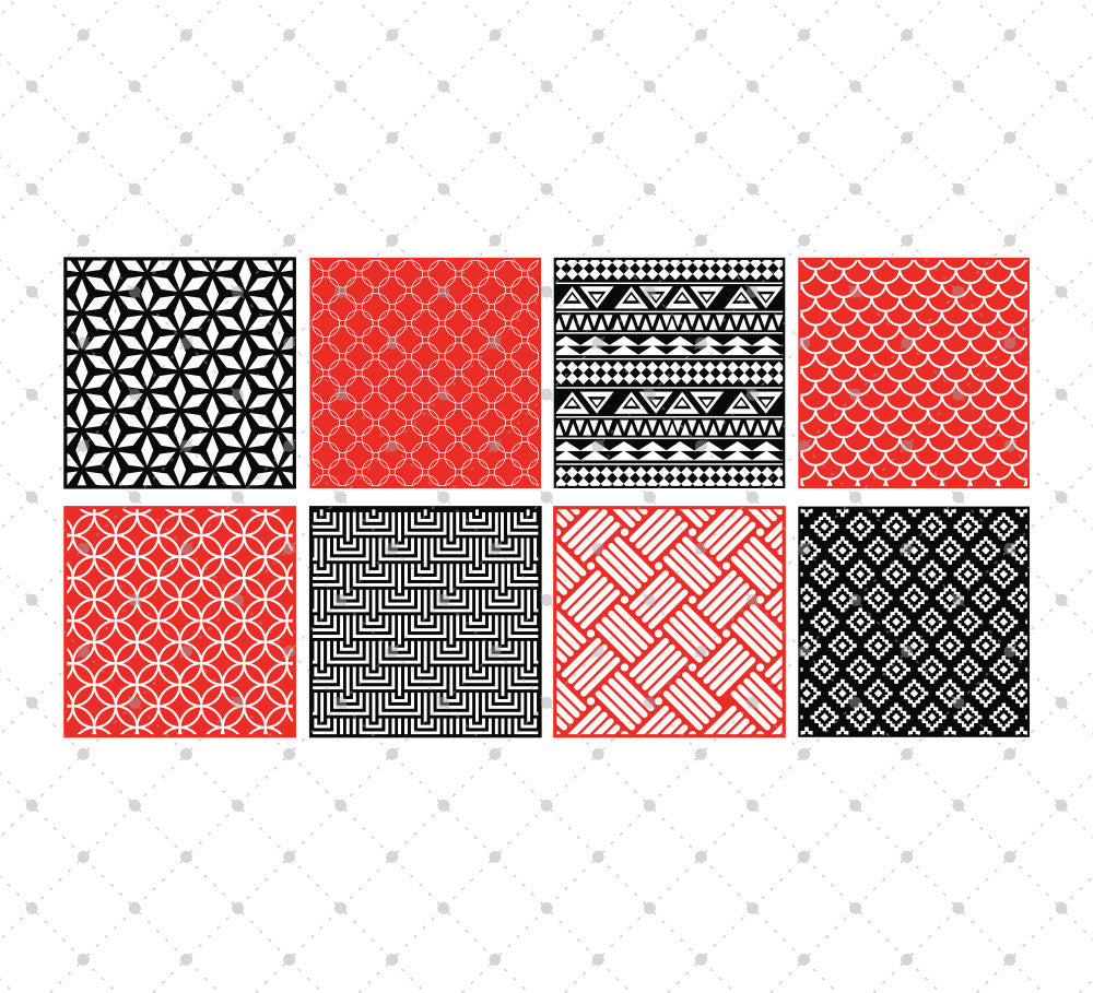 Patterned Square SVG Cut Files #2