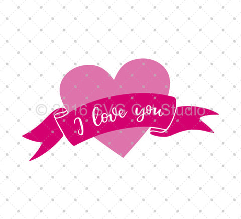 SVG files for Cricut Valentine's Day Banner SVG Cut Files Silhouette Studio3 files PNG clipart free svg by SVG Cut Studio