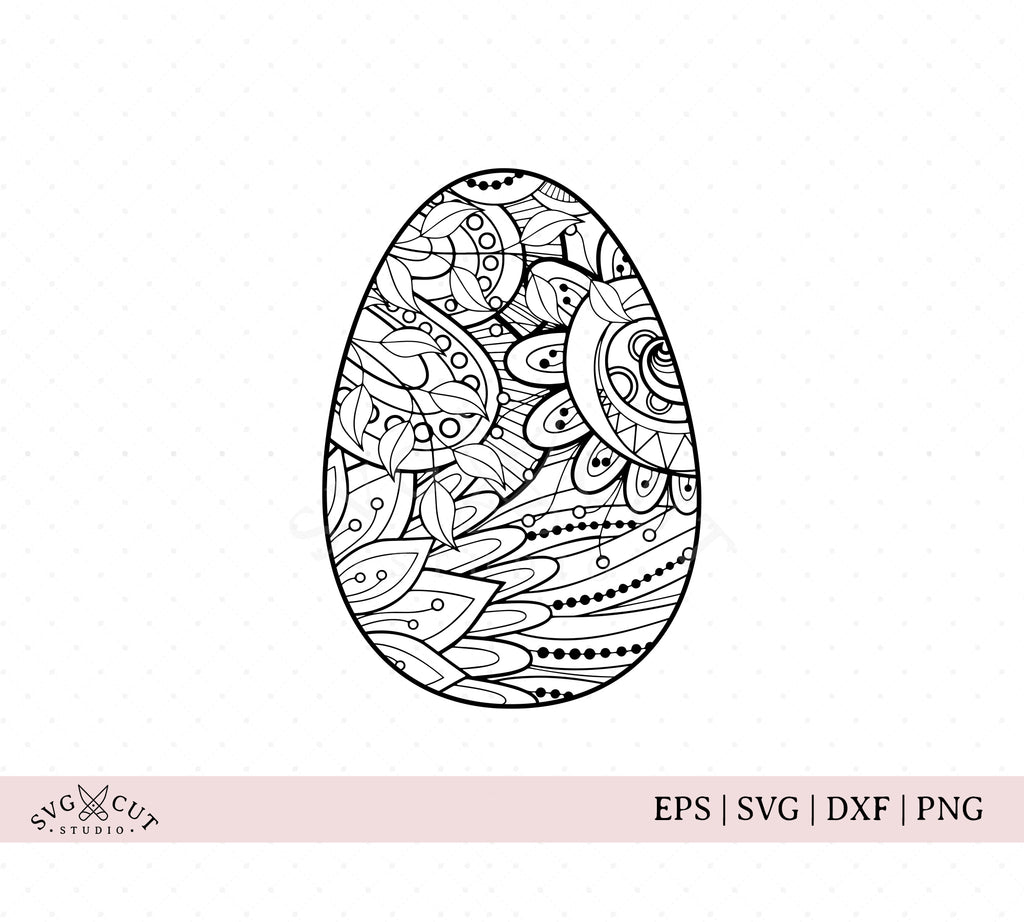 Zentangle Easter Egg SVG Files