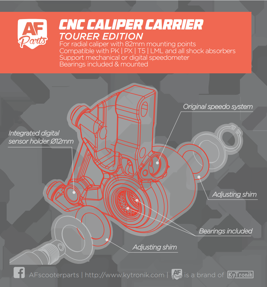 TOURER Edition - CNC Caliper Carrier for PK / PX / T5 / LML