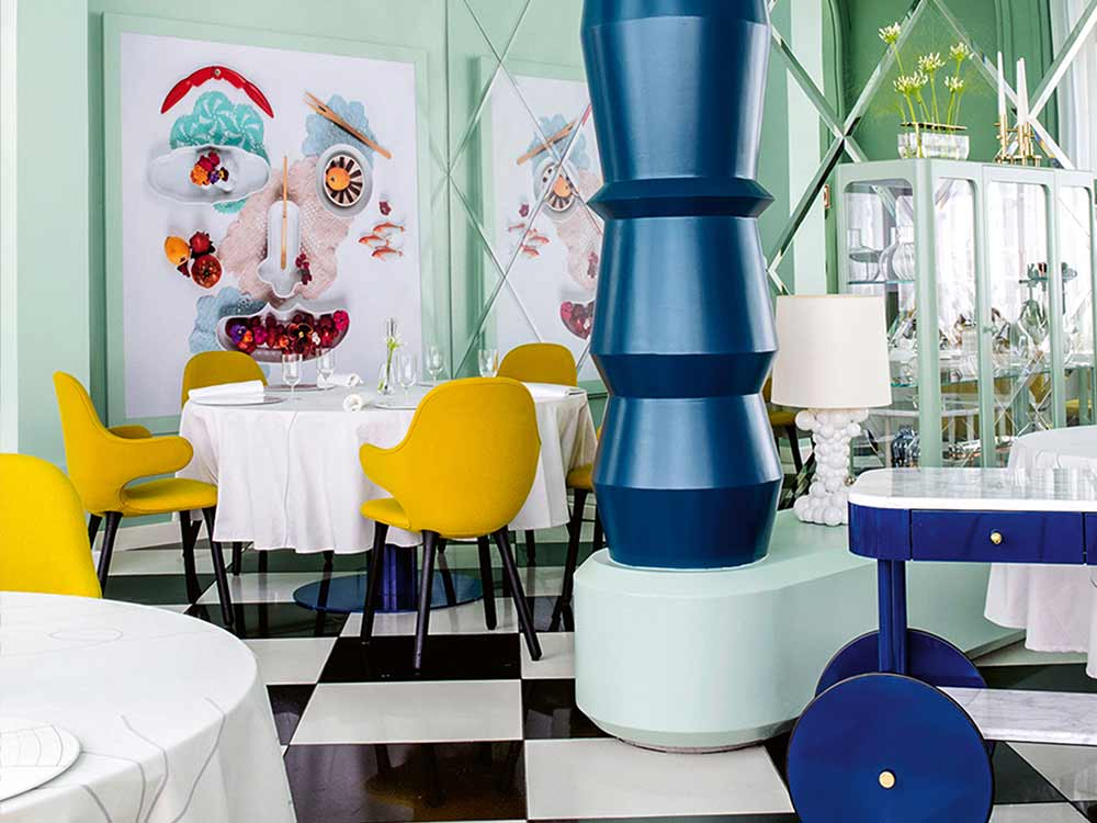 Colourful playful interior design
