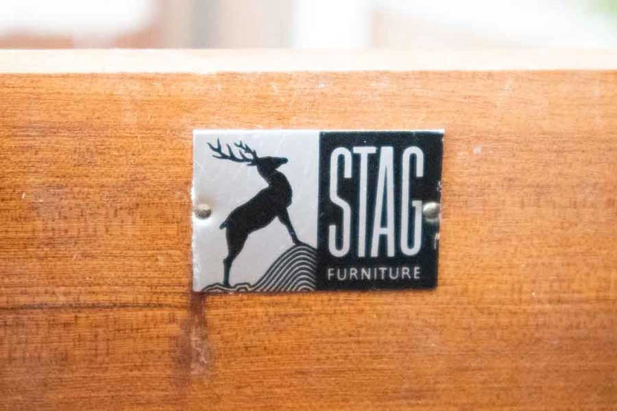 Vintage Stag furniture label