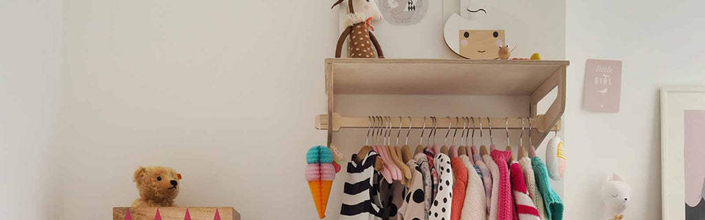 plywood clothes rack