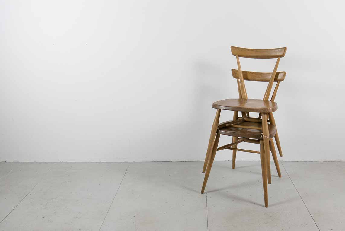 Vintage Ercol Stacking Chairs