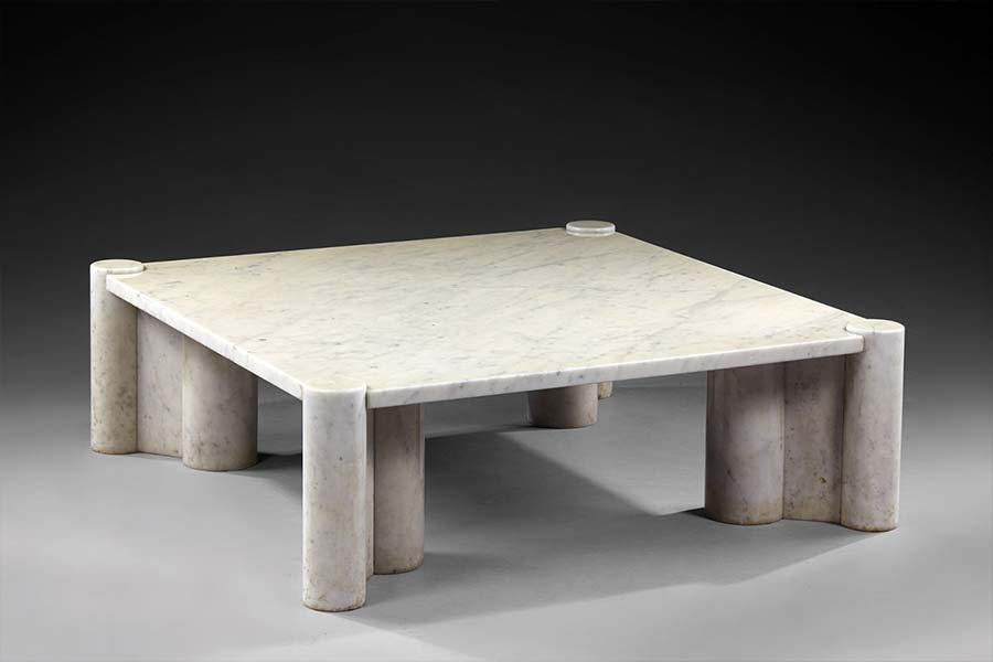 Aulenti marble coffee table