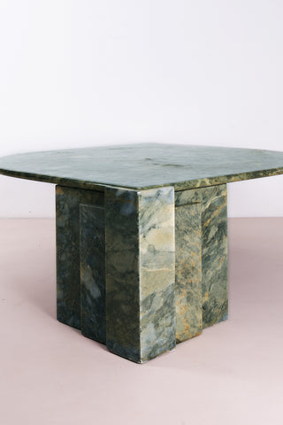 Leaf-Shaped Green Marble Coffee Table