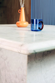 Italian Carrara Marble Dining Table