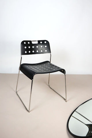 Black OMKSTAK chairs