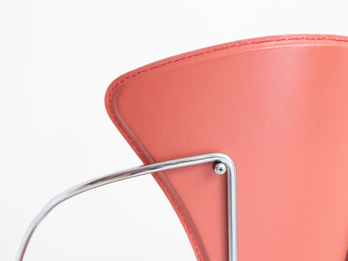 Retro pink postmodern chair