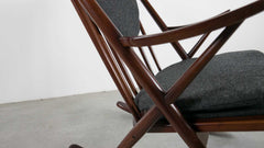 Scandinavian modern rocking chair