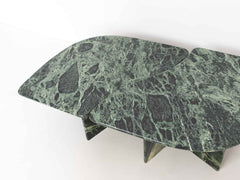 Vintage green marble coffee tables