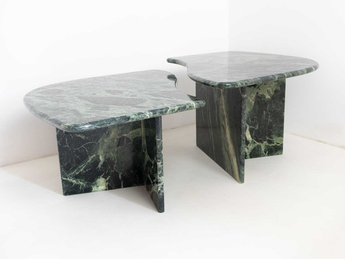 Nesting coffee tables in marble