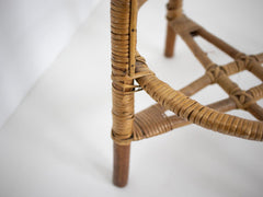 Bamboo and rattan stool