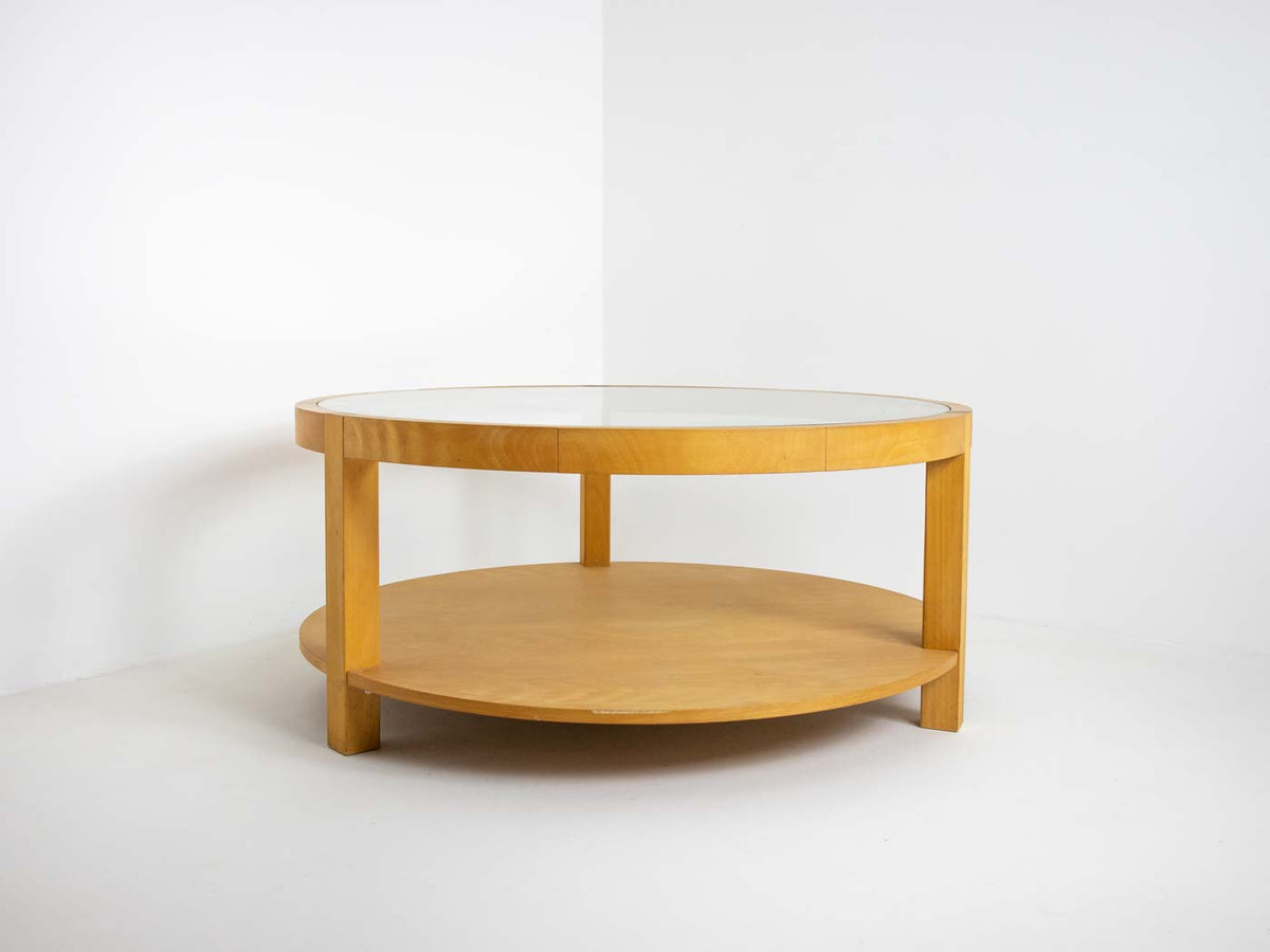 Large beech coffee table