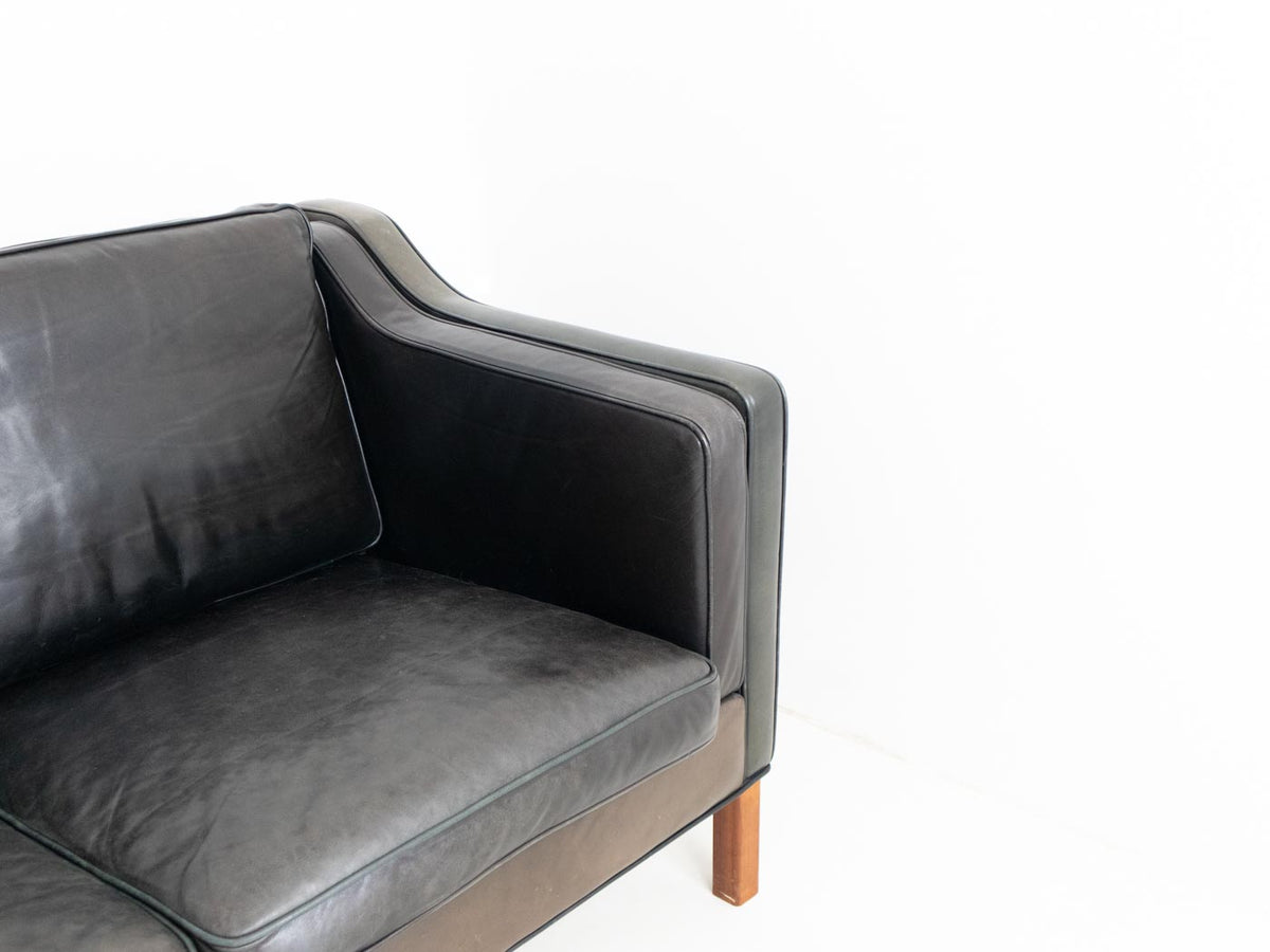 Leather Scandinavian sofa