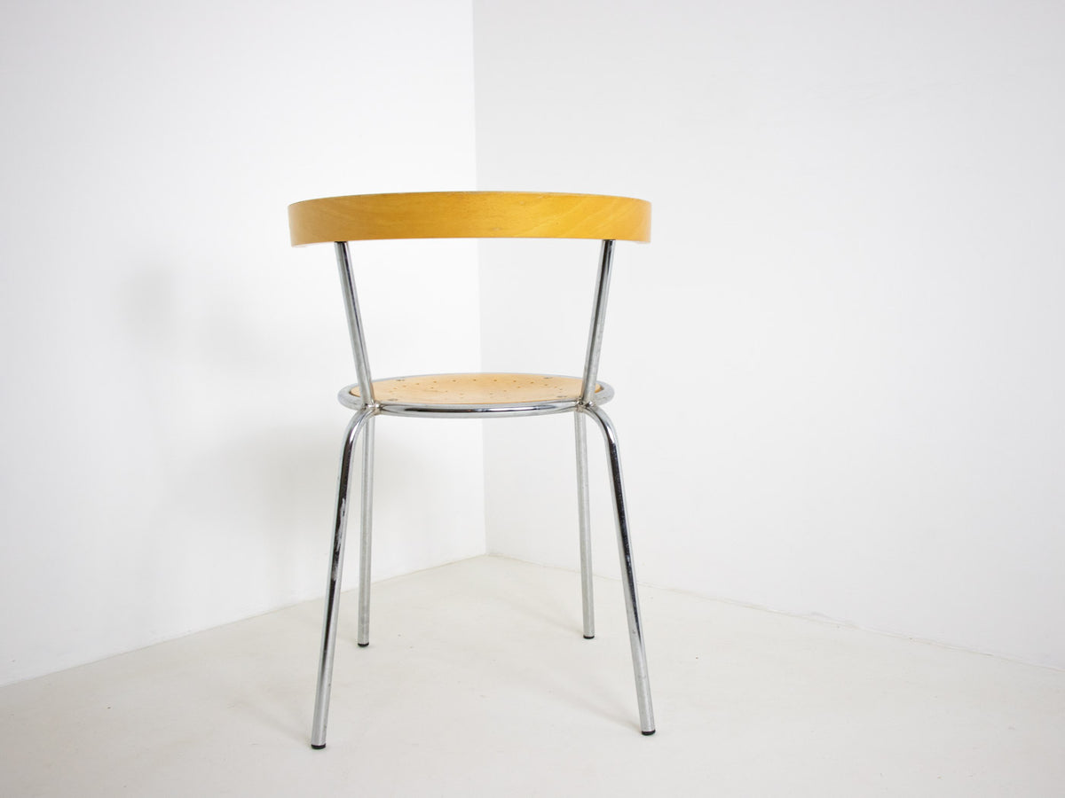 Chrome and bentwood chairs