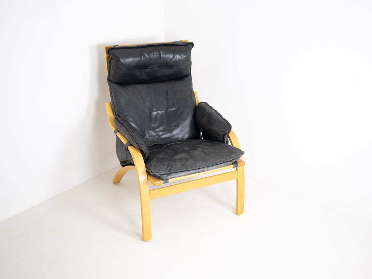 Danish Modern armchair with footstool