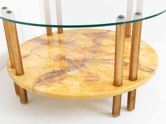 Retro marble-effect coffee table