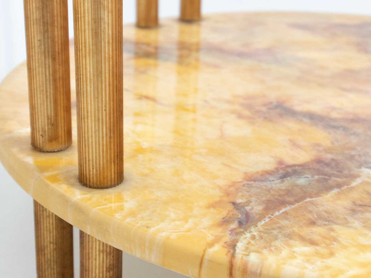 Retro marble-look coffee table