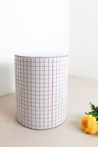 tiled bedside table