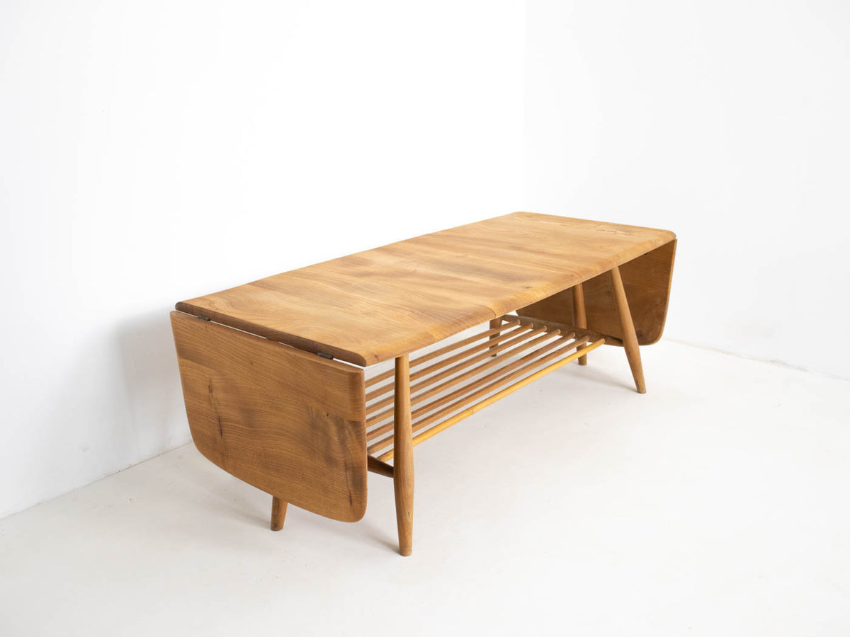 Solid wood mid century coffee table