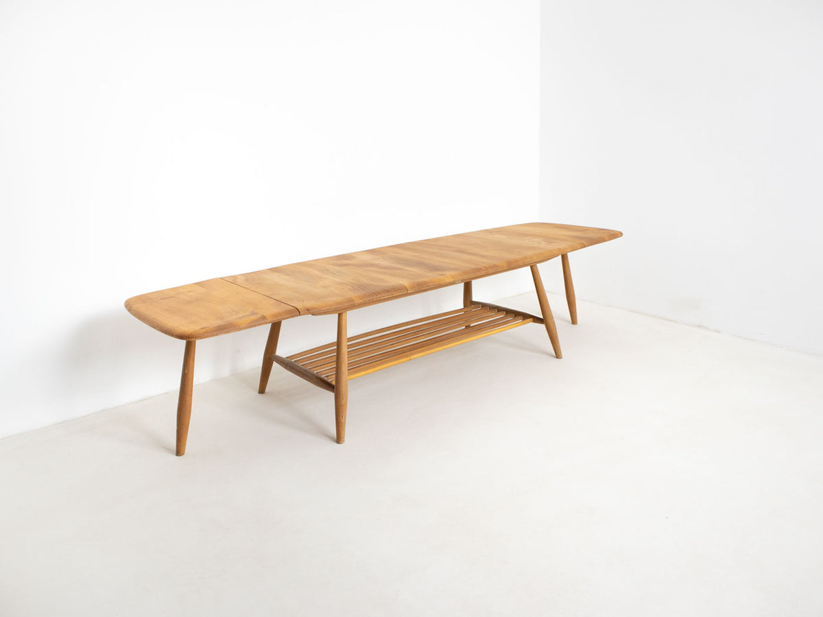 Vintage mid century modern extending Ercol coffee table